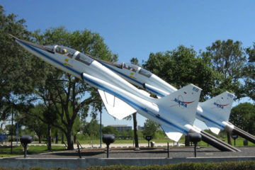 Jerdon Jet Monument at NASA Entrance